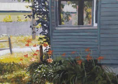 Daylillies in gouache
